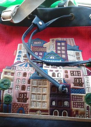 Шикарный большой городской рюкзак с апликацией alba soboni