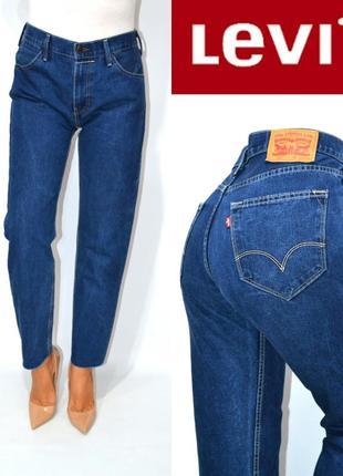 Джинсы момы   высокая посадка бойфренды мом mom jeans levis 504 .