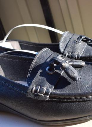 Кожаные туфли топсайдеры мокасины германия р.7 на р.41 26,5 широкую