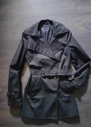 Тренч пальто плащ tommy hilfiger xs s оригинал massimo dutti чёрный