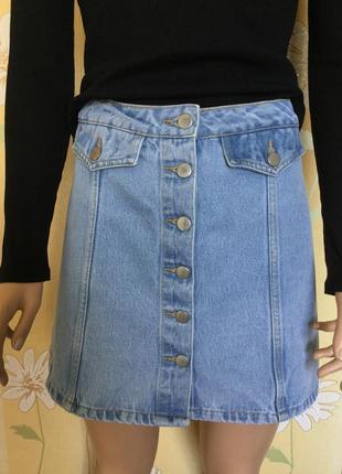 Юбка джинсовая трапеция denim co 10 размер
