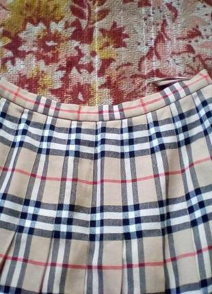 Burberrys винтажная шерстяная юбка,оригинал.