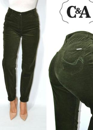 Джинсы  момы бойфренды высокая посадка вельвет бархат мом mom jeans  c&a .