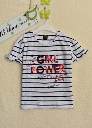 Классная, стильная футболочка для модной девочки.