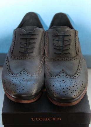 """Стильные мужские туфли с эффектом """"античности"""" tj collection"""