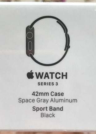 Смарт часы apple watch series 3 42mm mql12fs/a