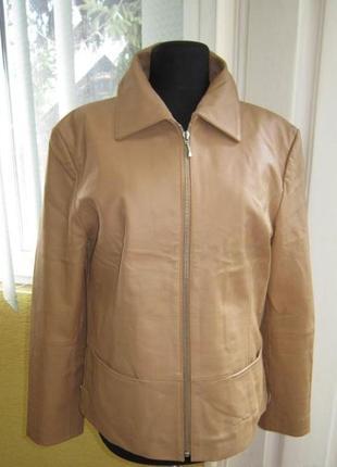 Оригинальная женская кожаная куртка joy. италия. лот 230
