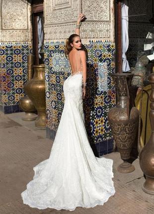 Невероятное дизайнерское свадебное платье lorenzo rossi. италия. рыбка/русалка