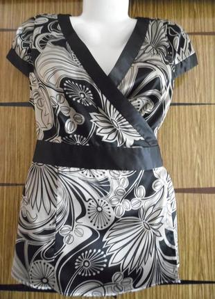 Блуза из иск.шелка. новая new look размер 16 – идет на 50