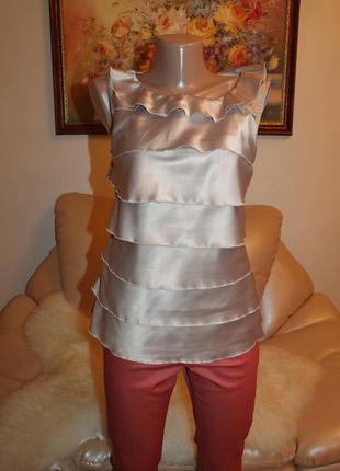 Серебристая блуза orsay идеальный праздничный вариант! orsay