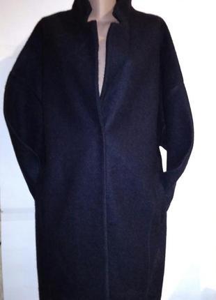 Шерстяное пальто бойфренд,оверсайз,кокон