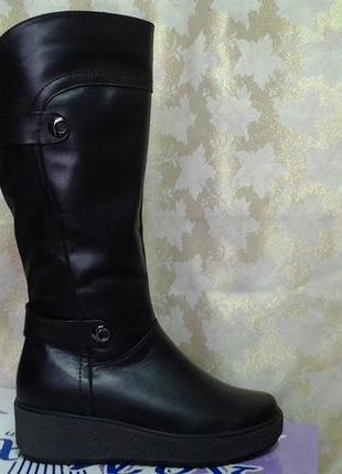 Зимние кожаные комфортные сапоги средних и больших размеров romax распродажа!36,38,39,42р.