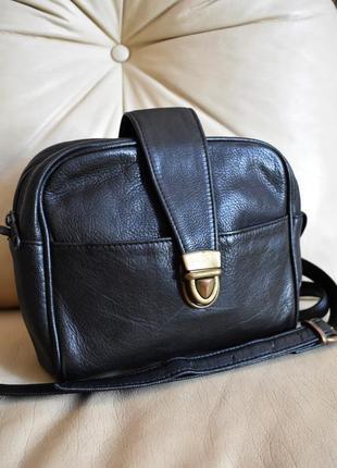 Стильная кожаная сумка кроссбоди – натуральная кожа