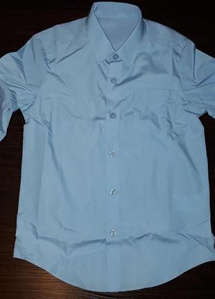 Рубашка приталенная школьная george 6-7 лет