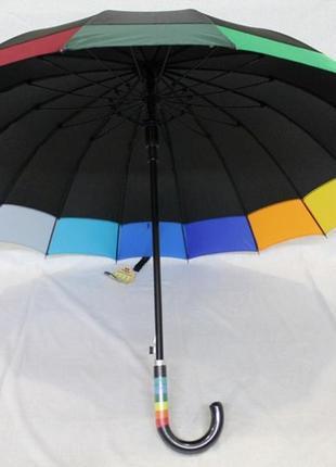 Новинка! женский большой зонт трость радуга по краю