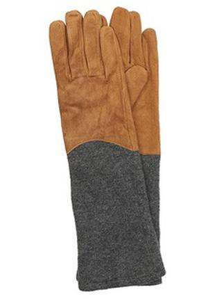 Замшевые перчатки reserved варежки кожаные перчатки шерстяные