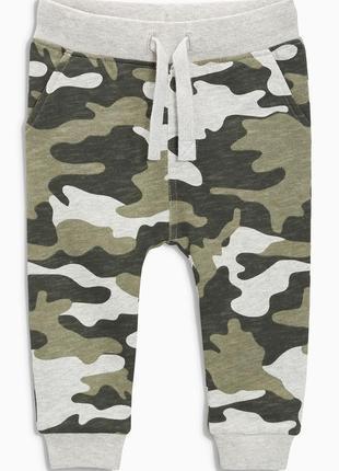 Хлопковые спортивные штаны брюки 4-5 лет 110 см милитари хаки некст next