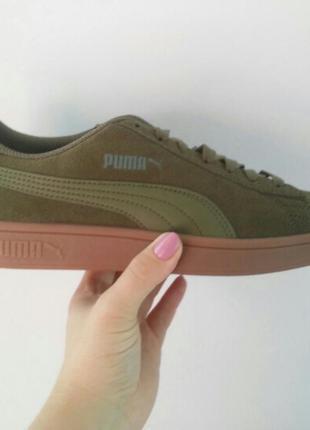 Кеды кроссовки puma-оригинал, натуральная замша.