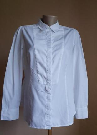Белоснежная блуза хлопок marks&spencer британия