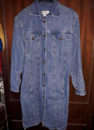 Джинсовый пиджак от banana republic.