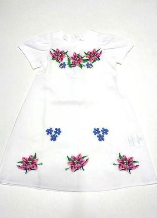 Сукня вишита вишите плаття з вишивкою вышитое платье с вышивкой лен льон р.98-146