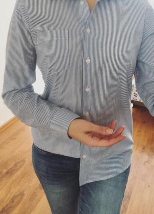 Новая рубашка в полоску рубашка atmosphere рубашка хлопок.