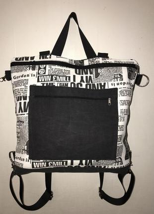 Ручная работа сумка - рюкзак - трансформер hand made
