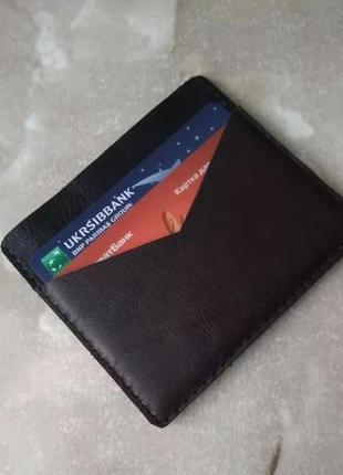 Кожаный кошелек ручная работа