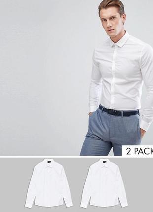 Набор из 2 рубашек скинни asos