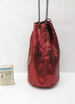 Редкая сумочка кольчужка whiting & davis, редкий цвет.