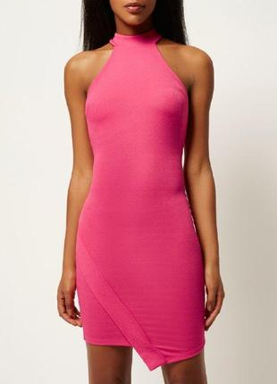Платье миди розовое river island