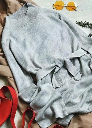 Гольф свитер бежевый с поясом george
