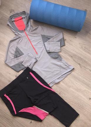 Костюм для фитнеса, костюм для спорта. бриджи кофта размер 44-46 mpg
