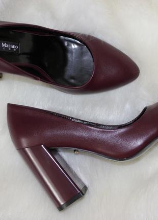 Шикарные туфли-лодочки, цвет марсала
