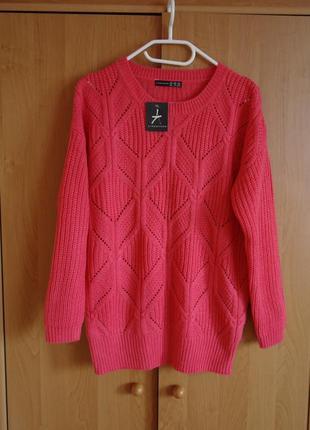 Мягкий уютный свитер (занижена линия плеч)