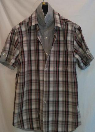 Очень  классная  рубашка  двойная с переди ( made in turkeyi)