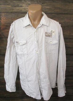 Рубашка стильная burton,xxl, cotton, отл сост!