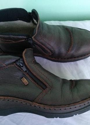 Туфли-полуботинки rieker разм.42, зимние мужские мембранные