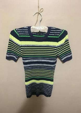 Кофта свитер джемпер жилет водолазка гольф в рубчик