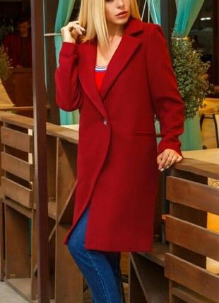 Шикарное тёплое кашемировое пальто бойфренд на подкладке