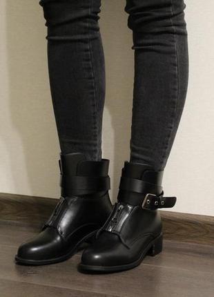 Красивые женские осенние ботинки (полусапоги) из эко-кожи