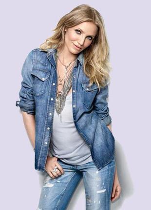 True spirit классическая женская джинсовая рубашка америка новая р. m-l/38-4