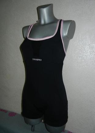 Tribord,франция,оригинал!черный купальник с шортами для плавания,для бассейна