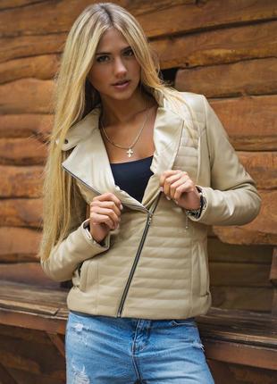 Новая куртка-косуха из искусственной кожи s, теплая