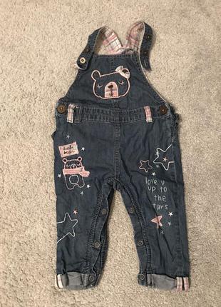 Красивый джинсовый комбинезон next 12-18