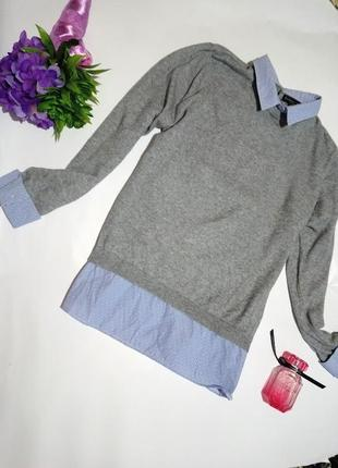 Джемпер -рубашка обманка. f&f