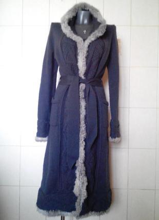 Неповторимое,крутое шерстяное,вязаное пальто-миди erny van reijmersdal,нидерланды