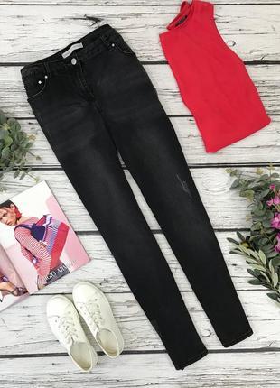 Базовые джинсы с лёгкими потертостями  pn1838007 george