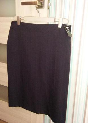 Юбка для офиса классическая прямая юбка в полосочку