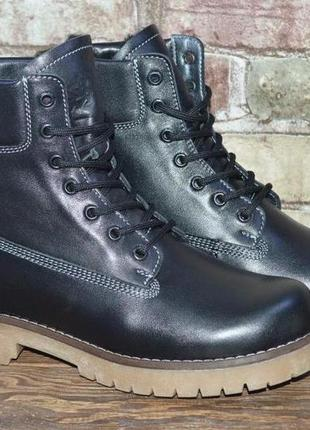 Мужские зимние ботинки, кожа, натуральный мех, р-р 40-45 Timberland ... ff1570b9b3a